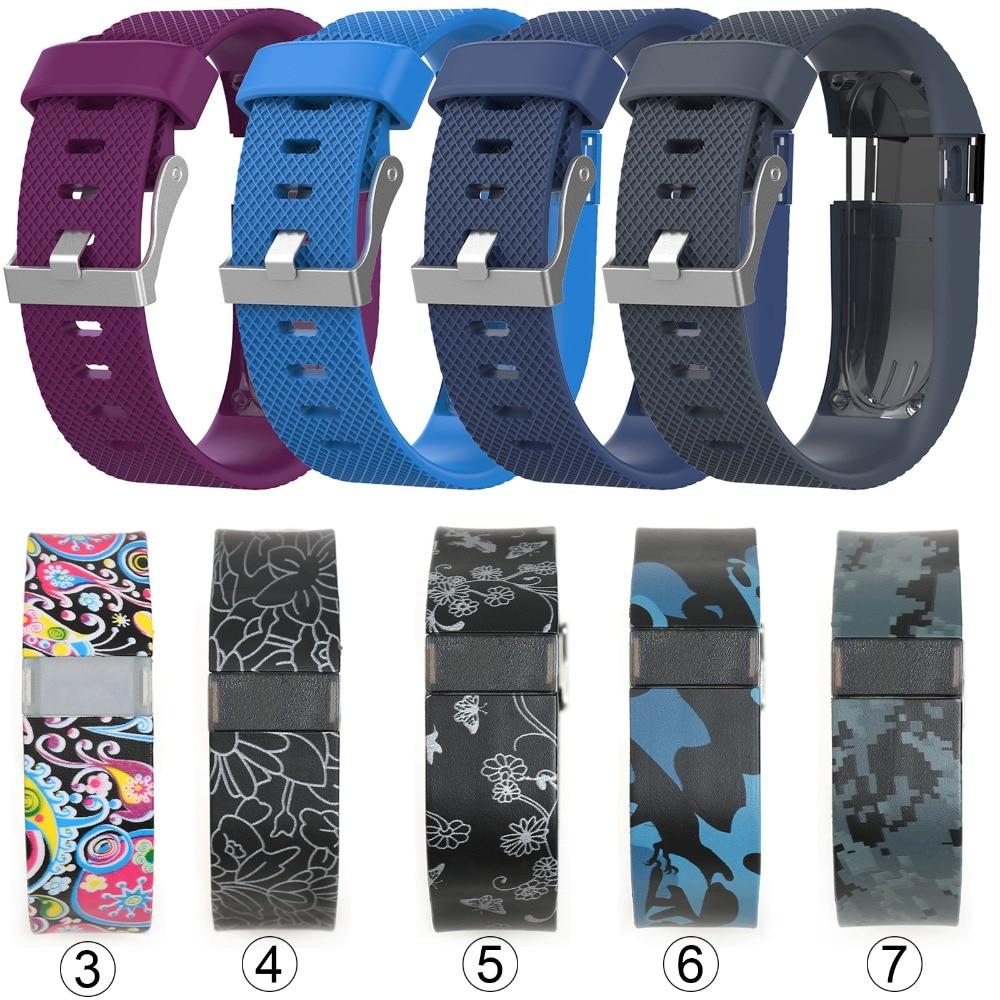 dc201eb28c41 Correa de reloj de pulsera de repuesto de 15 colores para Fitbit Charge HR  Watchbands rastreador de actividad inalámbrico pulsera de hebilla de Metal  ...