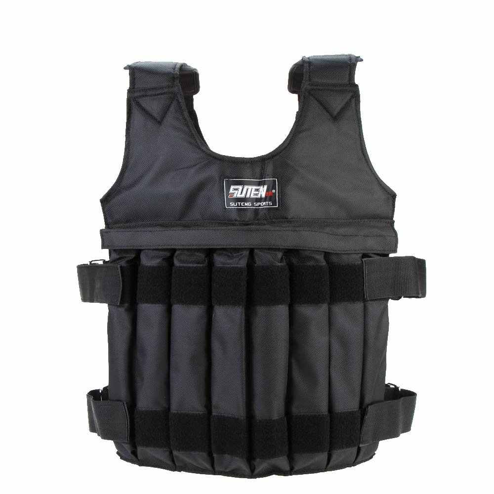 SUTEN Max 20 kg of load weight adjustable Weighted Vest jacket vest exercise boxing training Invisible Weightloading sand clot