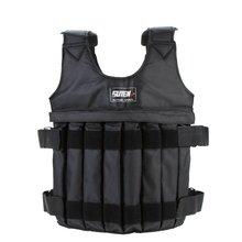 SUTEN Max 20 кг нагрузки Вес Регулируемый Вес ed жилет куртка жилет упражнения бокс обучение Невидимый вес загрузки песок тромб