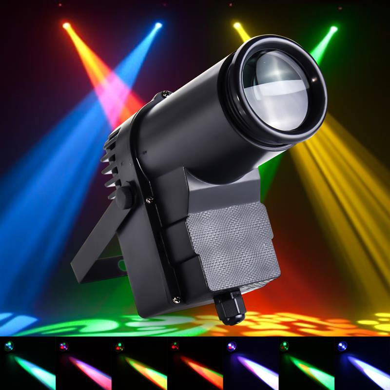 Professional Stage Lighting Effect 15W RGB 10W LED Stage Light Pinspot Light Beam Spotlight DISCO KTV DJ Stage Lighting Effect new professional led stage light 6w rgb ac90 240v stage lighting effect par light for dj disco party ktv free shipping