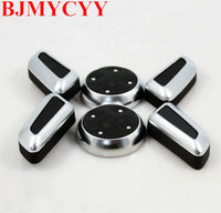 6pcs Set ABS Chrome Seat Adjustment Knob Button Switch For Volkswagen VW Jetta MK5 Passat B7