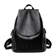 2019 New Womens Leather Backpack Purse High Quality Soft Female Shoulder Bag Sac A Dos Femme