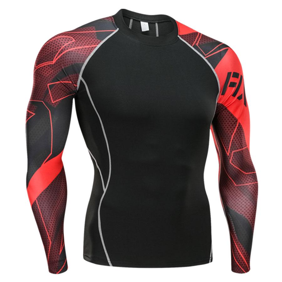 men's clothing compression men t-shirt + leggings rashgard kit long sleeves top for fitness man tracksuit thermal underwear base