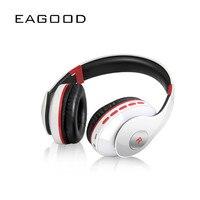 EAGOOD New Style Foldable Bluetooth Wireless Headset TF Card Hands Free Headphones Wireless Stereo FM Radio Bluetooth Headset