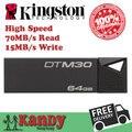 Venda Kingston usb 3.0 flash drive pen drive 64 gb 128 gb pendrive usb cle vara mini 3.0 chiavetta usb pendrives presente memoria usb