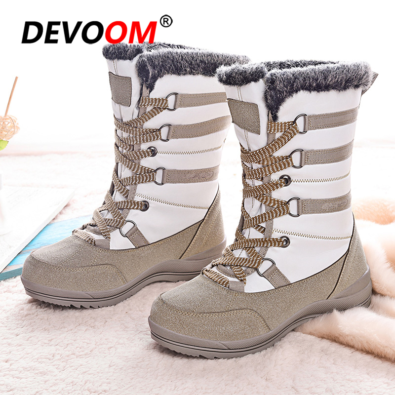 Waterproof Shoes Hiking Shoes Women Winter Outdoor Boots Mountain Shoes  Ladies Snow Boots Anti skid Bottom Warm Hunting Boots 40 Hiking Shoes  -  AliExpress