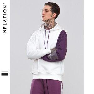 التضخم الرجال 2018 الخريف المتضخم الرجال هوديس خليط اللون كتلة البلوز الهيب هوب هوديس الصوف مقنعين للرجال 8802 W