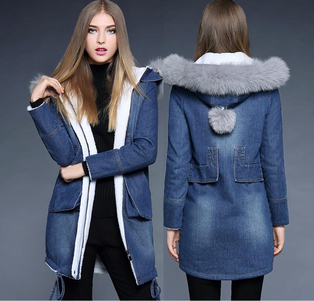 ФОТО 2016 Winter women Coat Europe and the United States fashion women winter padded jacket coat fox fur female winter Parkas 5001
