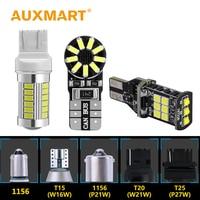 Auxmart LED Bulb T10 W5w T15 W16w T20 W21w 1156 P21w 1157 T25 3157 LED Canbus