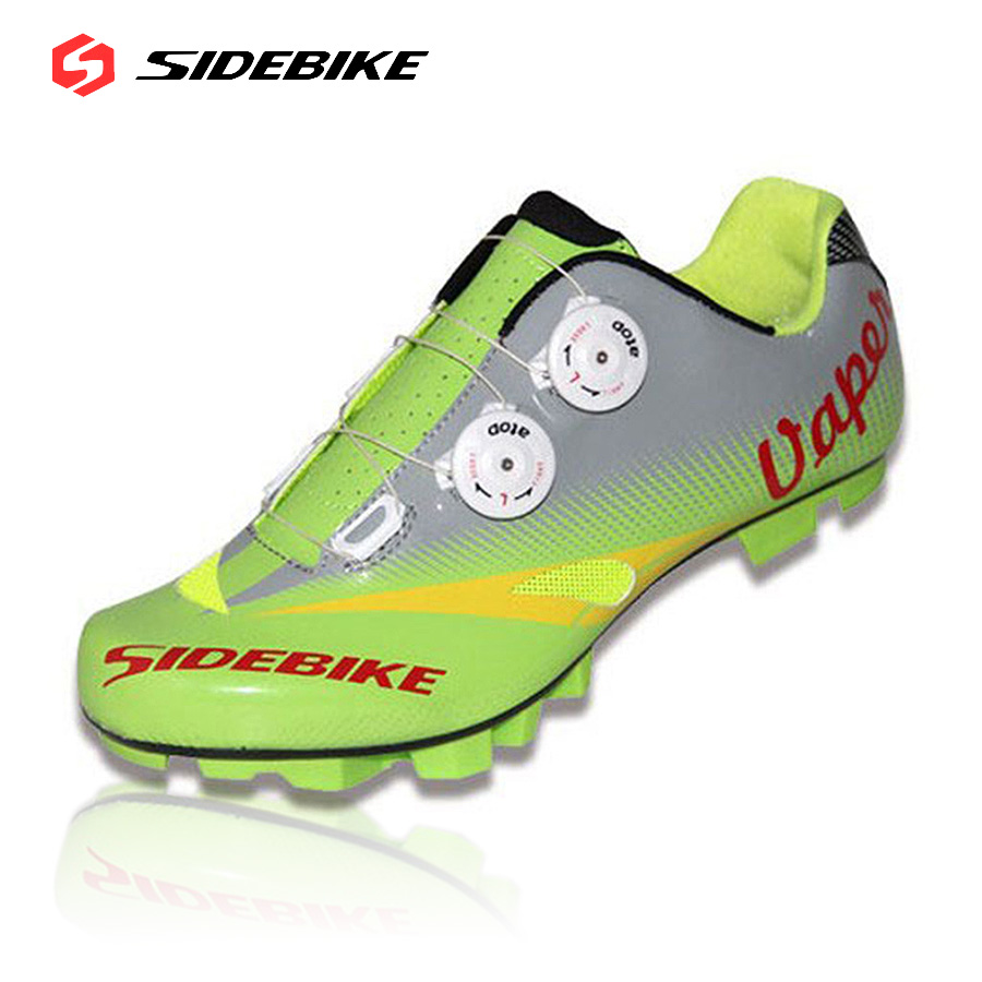 SIDEBIKE MTB Lightweight Cycling Shoes Mountain Self-Locking Bike Bicycle  Shoes EU 35-46 Zapatillas Ciclismo Green Color Unisex sidebike high quality men cycling shoes self locking road bike shoes s2 snap knob bicycle shoes ultralight sapatos de ciclismo