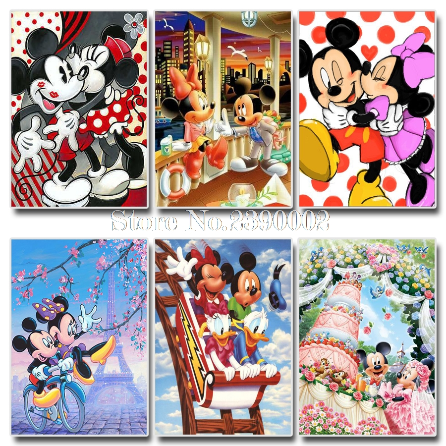 Arts,crafts & Sewing Diamond Mosaic Diy Diamond Embroidery Cartoon Mickey Mouse Stickers 3d Paste Full Cross Stitch Kit Diy Diamond Painting