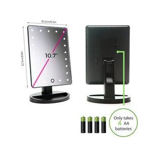 Image 5 - LED Touchscreen Make Up Spiegel Professionelle Eitelkeit Spiegel Mit 24 Led leuchten Gesundheit Schönheit Einstellbare LED Spiegel 180 Rotierenden