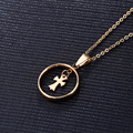New style Fashion Jewelry Stainless Steel Luxury Women Gold Plated Long Necklaces & Pendants for Women Girl Best Gift 7 Styles