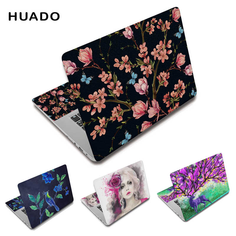 "Fleur housse pour ordinateur portable autocollants 15.6 ""ordinateur portable autocollant 15"" ordinateur décalque 11 ""12"" 14 ""13"" pour macbook/xiaomi air 13.3/lenovo/hp"