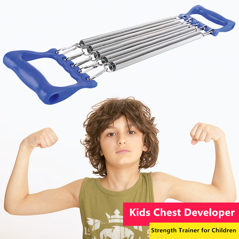 Kids Sports Toys 6-12 years Children Iron Springs Gym Bar Chest Developer Arm Strength Training Kindergarden Home Fitness Power