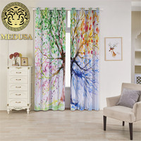 Medusa 3d impressive trees Grommet Top Thermal Insulated Blackout window Curtains 2 Panels