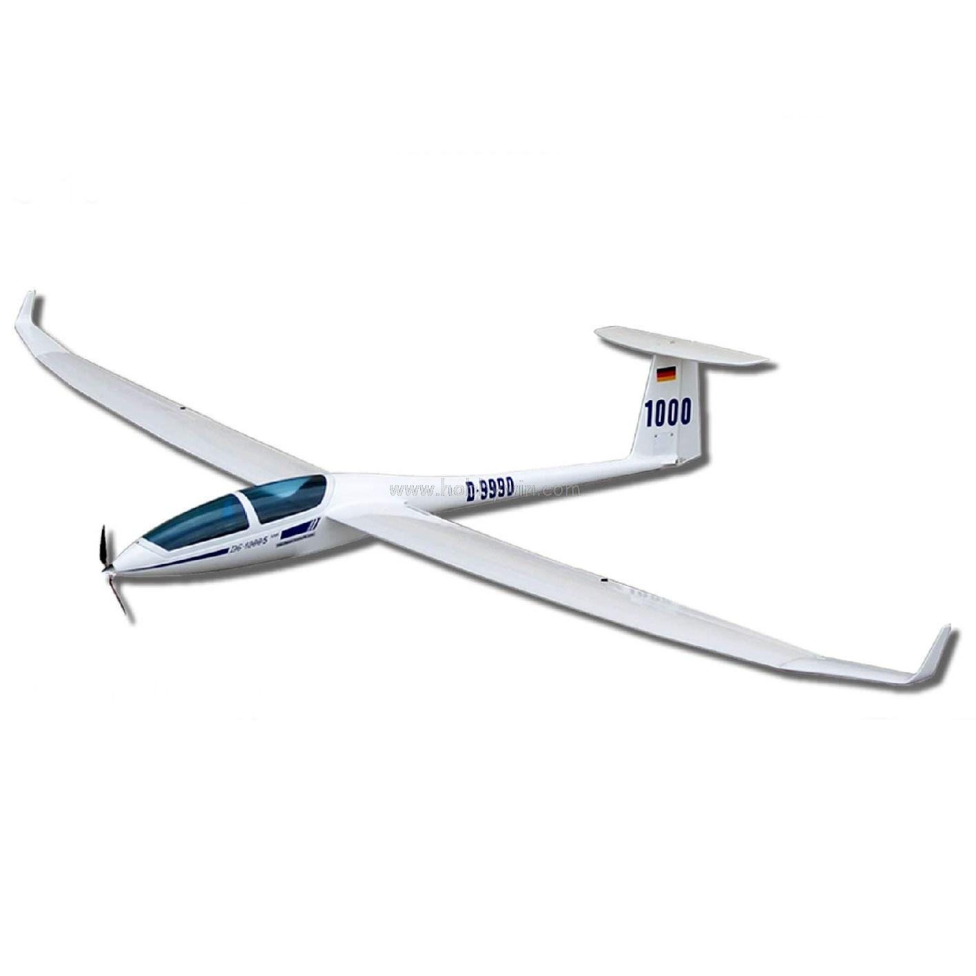 Planeur électrique DG 1000 2630mm KIT non assemblé fuselage en fibre de verre et ailes en bois modèle voilier RC-in Avions télécommandés from Jeux et loisirs    1