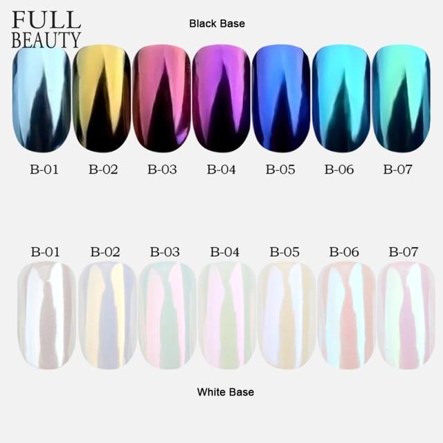 7 cajas brillo espejo polvo uñas polvo fina lentejuelas juego brillo oro púrpura DIY decoración uñas pigmento herramienta CHB01-07