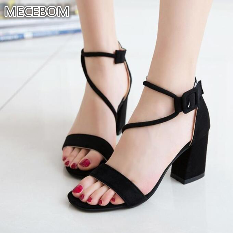 2018 Hot Summer Rubber Women Sandals Open Toe Flip Flops Womens Sandles Thick Heel Women Shoes Korean Style Gladiator Shoes 16W
