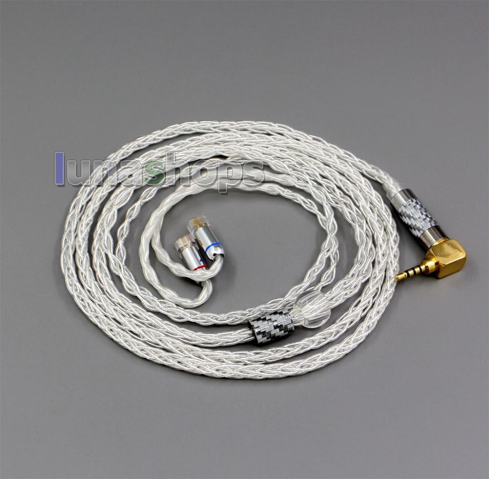 99 99 Pure Silver XLR 3 5mm 2 5mm 4 4mm Earphone Cable For QDC Gemini