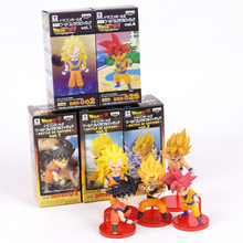 Dragon Ball Z Super Battle of Saiyans Son Goku PVC Figures Collectible Model Toys 5pcs/set 8cm 2 Styles(China)