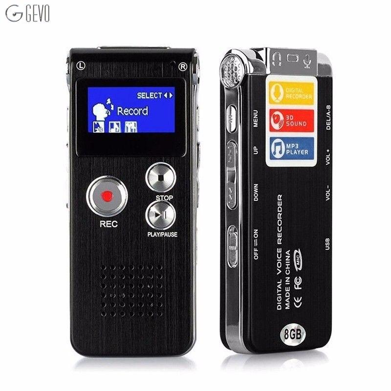 Voce di alta qualità Recordering Penna LED Usb Digital Suono Pulito Micro Audio Recorder 8 GB Dittafono Lettore Mp3 Registratore Portatile