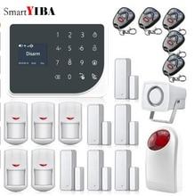 SmartYIBA IOS Android APP Remote Control Autodial Alarm WIFI GSM Alarmes Loudly Siren Horn Alarm Kits Home Security Alarm System