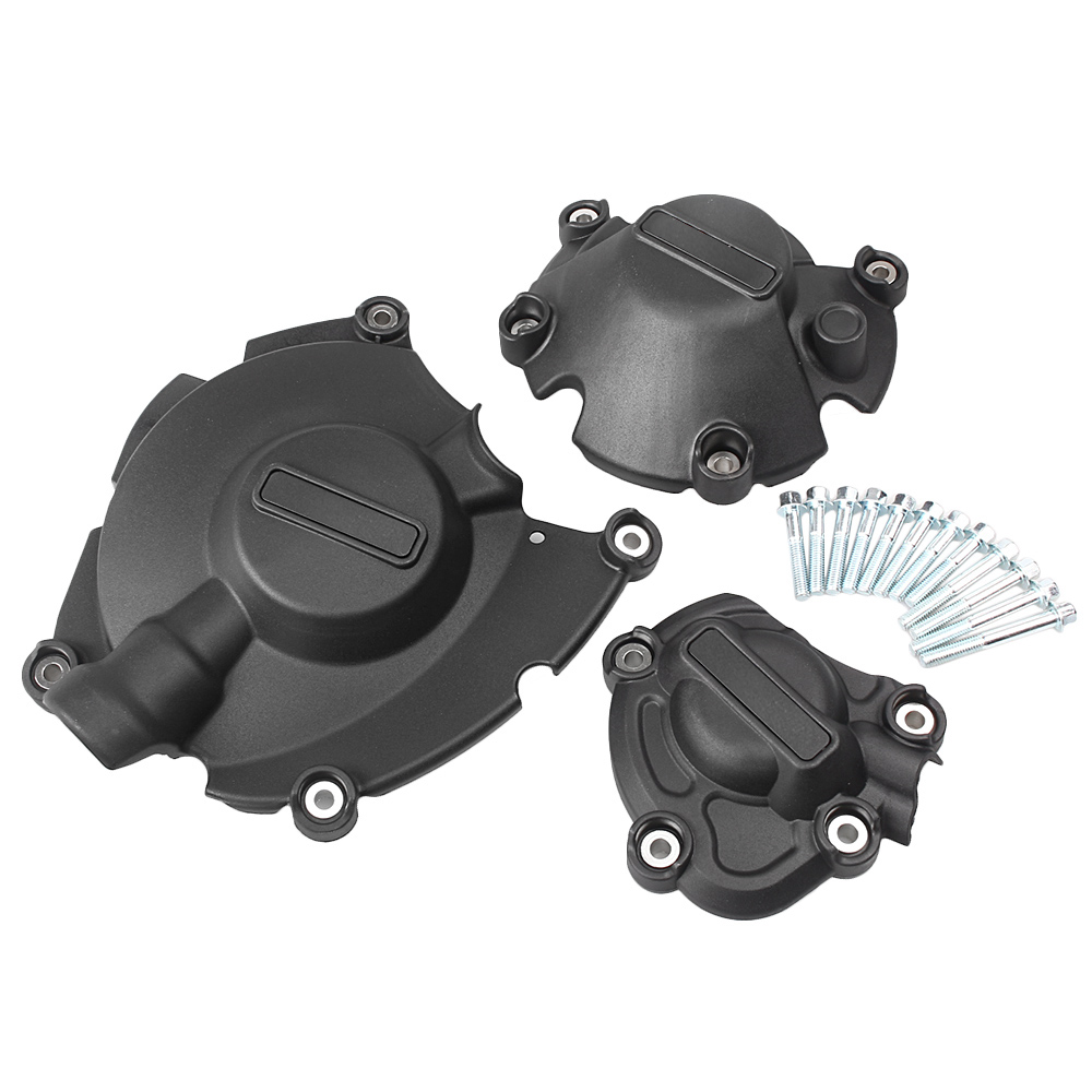 3PCS Motorcycle Engine Stator Cover Case Crankcase Set For Yamaha YZF R1 2015 2016 15 16 motorcycle engine stator crank case generator cover crankcase for yamaha yzf r1 2004 2005 2006 2007 2008 yzfr1 yzf r1 04 08
