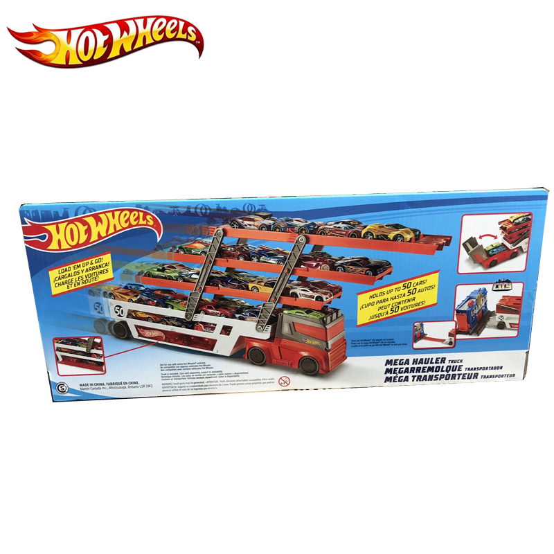 Hot Wheels Mega Hauler Track Toy Big Size Transporter Can Holds Up To 50 Cars Hotwheels Truck Toy Commemorative Edition Ftf68 #5