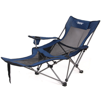 Portable Outdoor folding recliner portable back fishing chair camping leisure stool lunch break beach siesta chair