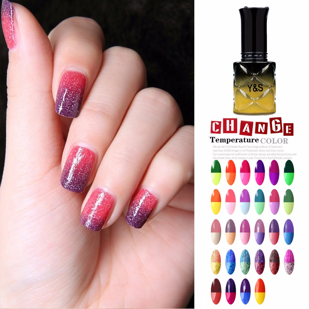 Y&S Hot Sale Thermal Color Changing Nail Art Polish Soak Off UV LED ...