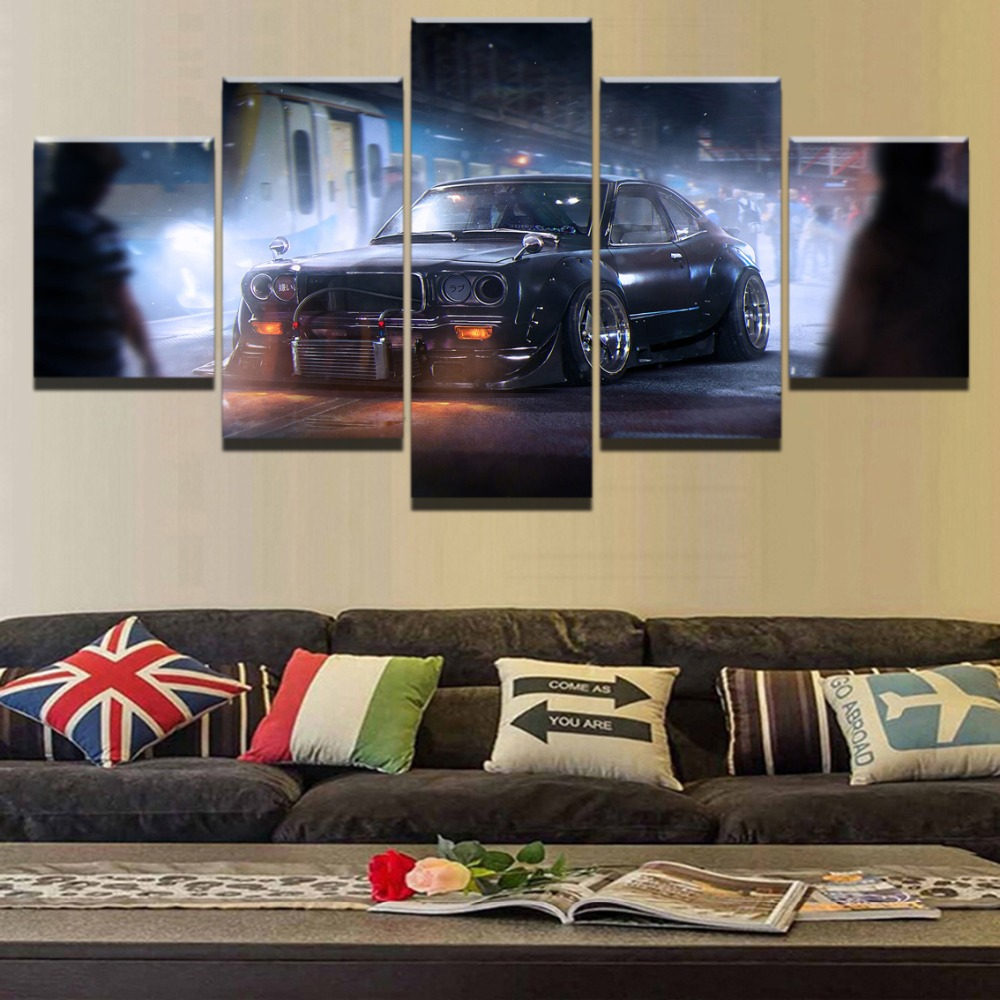 Classic Home Decor Pieces: Modern Vintage Sports Car Classic Home Canvas Wall Art