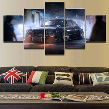 Modern Vintage Sports Car Classic Home Canvas Wall Art Picture 5 Pieces Paintings Decor Living Room
