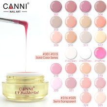 CANNI 10 Colors Semi Transparent Color and Camouflage Jelly UV Builder Extend nail gels 15ml*1 pc 316-325
