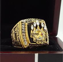 2005 Pittsburgh Steelers super bowl Чемпионат Кольцо 11 Размер высокое качество в наличии для продажи.