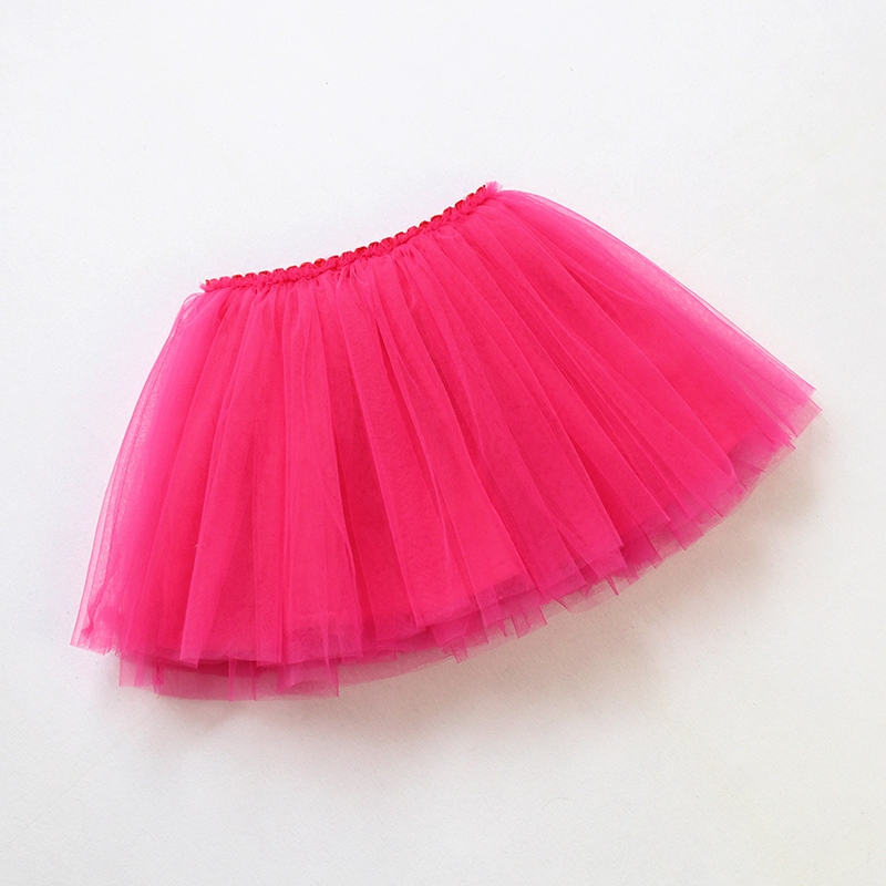 2017 autumn baby girls tutu skirt ballerina pettiskirt layer fluffy children ballet skirts for party dance princess girl tulle