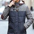 2016 Мужчины Зима Большой Размер Куртки Hombre Высокое Качество Классический Slim Dress Лоскутное Толщиной Теплое Пальто Плюс Размер M-4XL 3 цвета