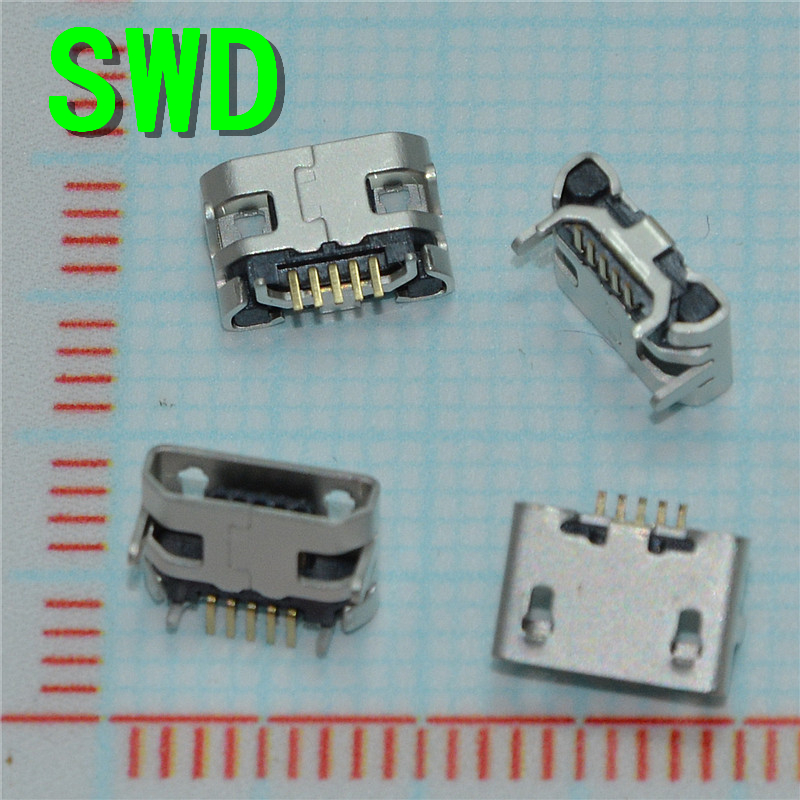 New Arrival Best Price 10Pcs/lot Micro USB Data Type B Female 5Pin Socket 4Legs SMT SMD Soldering Connector Jack Plug #DSC0039 wholesale 20 pcs micro usb type b female 5 pin smt placement smd dip socket connector plug adapter