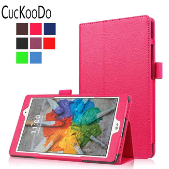 CucKooDo 100Pcs/lot PU Leather Stand Cover For 8-Inch LG G Pad X 8.0 Tablet (T-Mobile V521WG) / G Pad III 8.0 V525 2016 Released