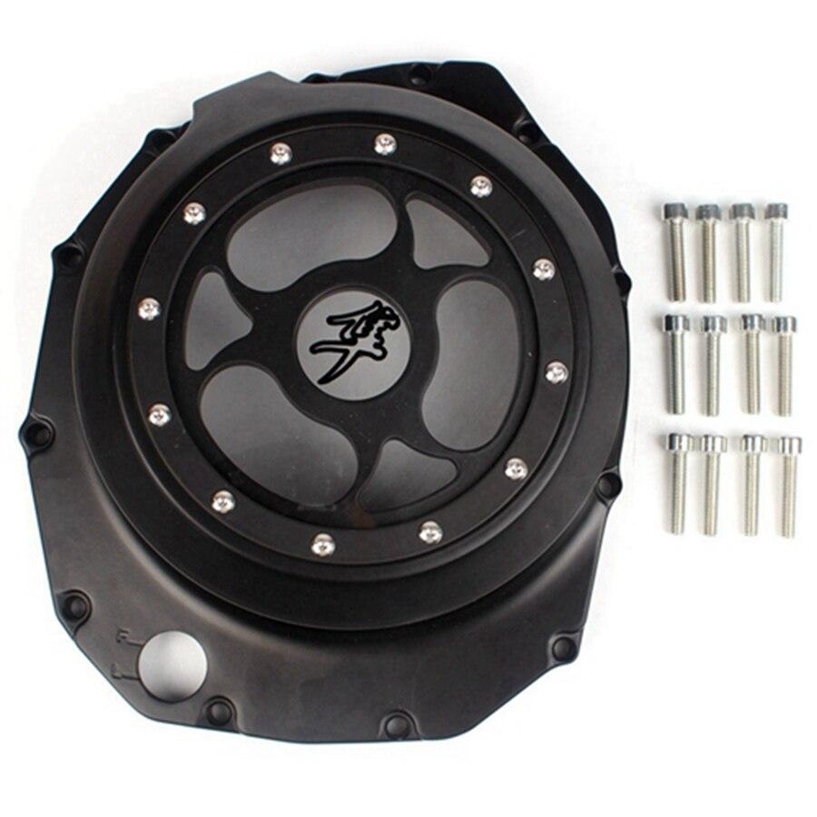 Aluminum Engine Stator Crankcase Cover Crank Case For Suzuki Hayabusa GSX1300R 1999 2007 GSX 1300 R Black