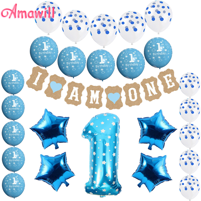 Aliexpress.com : Buy Amawill 1 Year Old Birthday Party