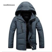 Mens winter jacket 2016 brand clothing parka men thick down jacket men coat winter jacket goose feather winter parka