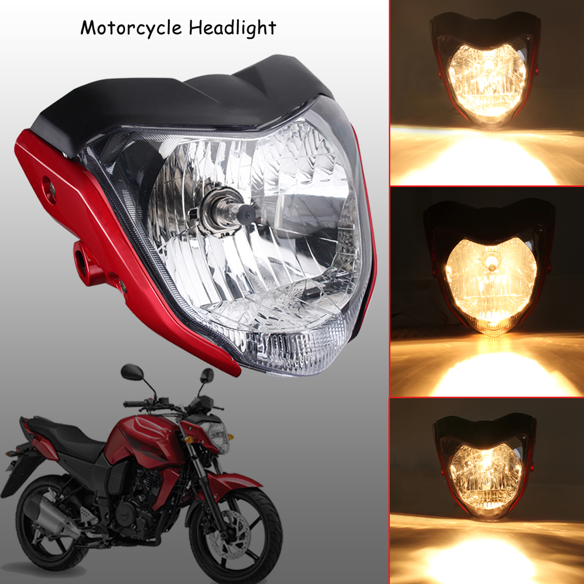 Motorcycle Tachometer Fz16 Speedometer New Abs Lcd Panel With Light Wiring Diagram Yamaha 1pcs Headlight Assembly Head Lamp House Red Fit For Ys150 Fzer150