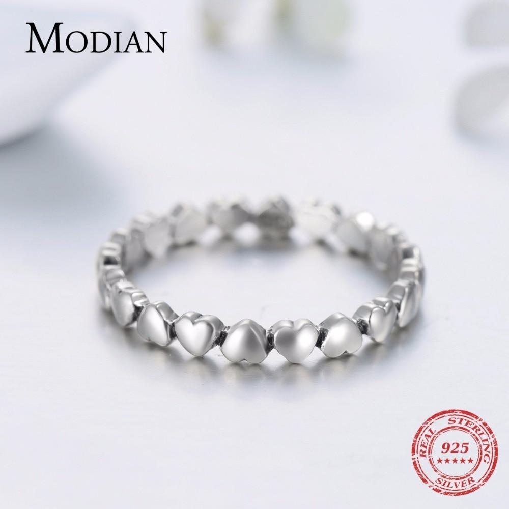 Hot Otentik Asli Mode 100% Padat 925 Sterling Silver Jantung Cincin - Perhiasan fashion - Foto 3