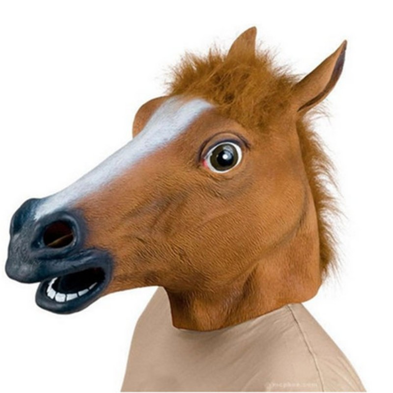 2018 Horse Head Mask Party Essential Halloween Costume Theater Novelty Latex Horse Mask Many Animal Costume Party Tool Mask