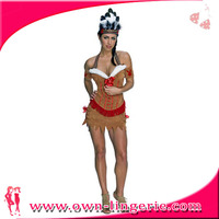Sexy Gypsy Superman Party Funny Costume Top Feather Costume With Headpiece