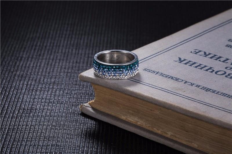 Gradient Colors Zircon Ring