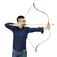Traditional Laminated 134cm 30 55lbs draw length 28inch archery wooden recurve bow bamboo and maple laminated bow For hunting