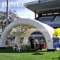 Customized giant white air pole inflatable arch tent for party event