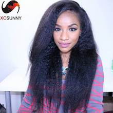 Kinky Straight Glueless Full Lace Wig For Black Women Italian Coarse Yaki Brazilian Virgin Human Hair Lace Front Wigs